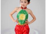 新款六一儿童演出服装演出肚兜幼儿舞蹈服民族秧歌舞服团队表演服