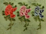 低价供用高品质涤纶网布刺绣 水溶立体花