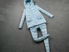 特价 欧洲站调调家13冬款兔毛领外套+裤子 羽绒棉二件套套装
