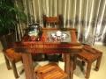 白城实木家具办公桌茶桌椅子老船木客厅家具沙发茶几茶台餐桌案台