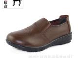 厂家直销一手货源 休闲女鞋系带软底防滑耐磨商务女鞋