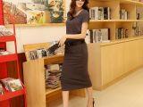 套装新款欧洲站女装新款连衣裙纯色一步裙修身显瘦长裙雪纺裙批发