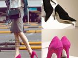 2015春秋季新款细跟高跟真皮羊皮磨砂皮OL单鞋欧洲站女鞋微信代