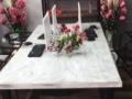 手工制作灰白色抓纹桌