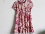 女装 新款特价时尚小翻领高腰型裙摆靓丽珠片连衣裙