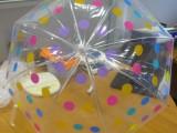 深圳广告透明伞定制 自动PVC透明花点圆点伞白色塑料透明伞