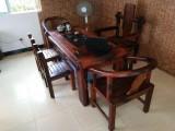老船木家具 泡茶桌 石磨茶几 茶桌茶台