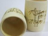 纯天然 出口 竹制 炭化 竹杯 拔火罐