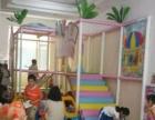 摇摇车2台和儿童游乐场设备有蹦蹦床钻洞独木桥滑梯海洋球决明子