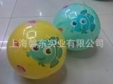 厂家直销-PVC充气玩具云彩贴标球、喷足球