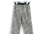 新款女童豹纹潮流打底裤秋季休闲长裤儿童豹纹长裤