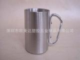 捷世通新款 氧化金色铝水杯 镀铜咖啡杯 不锈钢单层手柄纯铜杯子