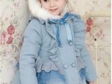 佛山工厂2014冬装韩版新款蕾丝花边女童装宝宝儿童棉服棉衣棉袄