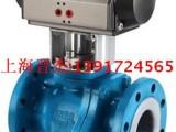 上海标光阀门厂 Q641F46-16C 气动铸钢衬氟法兰球阀