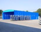 嘉善县专业安装定做户外移动推拉防雨遮阳棚活动伸缩仓储棚直销
