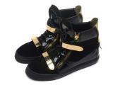 外贸欧洲站 GZ黑色石头纹铁链条高帮单靴 真皮时尚平底韩版潮鞋女