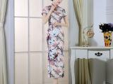 夜上海宴会年会派对高档旗袍长款高开叉日常旗袍表演复古怀旧旗袍