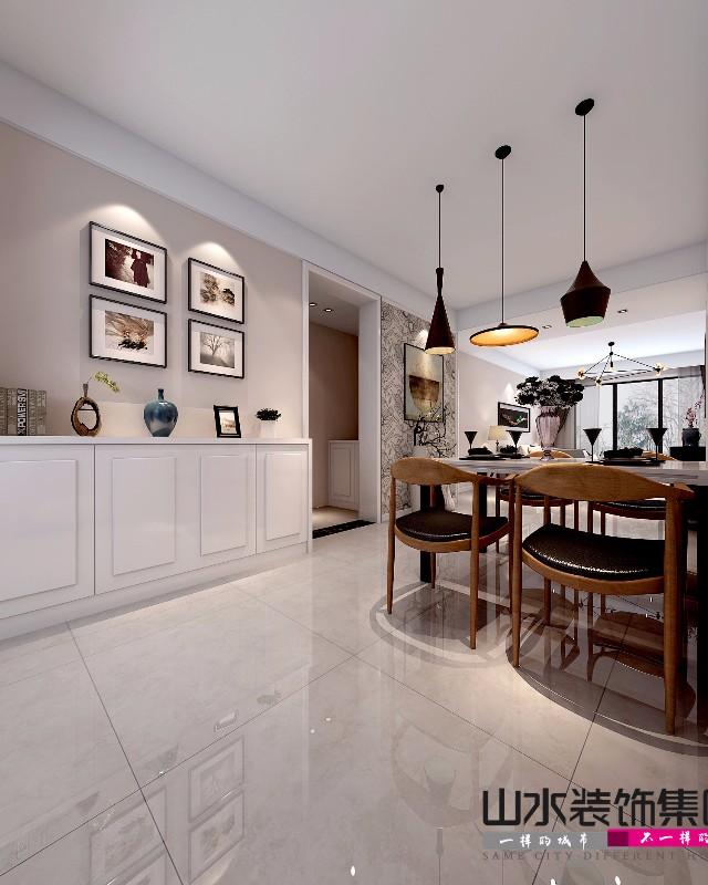 金泉小区110平三居室现代简约装修设计效果图含户型图