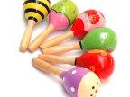 小额混批 中号沙锤卡通摇铃奥尔夫乐器 训练听觉 益智早教玩具