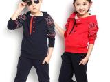 春款童装女童2015潮新款男童装卫衣儿童秋款衣服运动两件套装套服