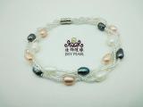 供应手链 天然珍珠手链 三层珍珠手链 欧美手链批发 SL-040