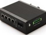 北京汉源高科百兆1光4电工业级POE以太网交换机非网管导轨式