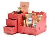 厂家直销欧式木制化妆品护肤品收纳盒抽屉式