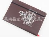 博邦文具 供应定制笔记本 外贸绑带笔记本 PU烫银笔记本记事本