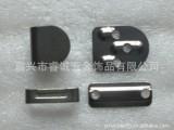 Ruicheng-RC101黒镍色过检铜质三爪西裤钩 无铅金属钮