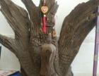 大河里打捞上来的好阴沉木,俗称乌木雕刻的凤凰