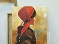 纯手绘 油画 装饰画背景墙