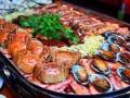 天津龙潮海鲜自助餐厅 大排档烧烤火锅 海鲜大咖大排档