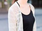 2014春夏新品韩版V领镂空拼接后背蕾丝网纱针织开衫防嗮衫空调衫