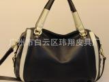 2014春季新款潮包时尚黑白拼接手提单肩斜挎女包包
