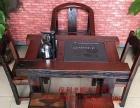嘉峪关实木家具办公桌茶桌椅子老船木客厅家具沙发茶几茶台餐桌案