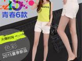 韩版夏新款白色牛仔短裤女 浅色显瘦阔腿毛边裤女潮