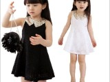 【专业品质】女童裙 夏款韩版女童亮片裙 公主裙蕾丝女童装