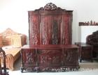 成都专业回收二手红木家具 大红酸枝沙发成套家具老红木高价求购