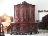 宁波回收红木家具 大红酸枝花梨木旧家具求购