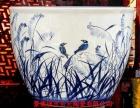 景德镇陶瓷手绘大缸 时尚摆件陶瓷大缸
