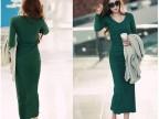 2014新款女装 春装 瑞丽韩版 大码欧美风衣气质修身长袖连衣裙