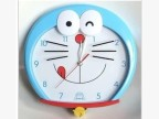 卡通静音扫秒挂钟 可爱创意叮当猫哆啦a梦儿童卧室石英钟