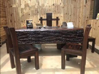 廠家促銷 老船木家具茶桌茶臺 功夫茶桌椅組合