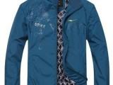秋装新款鸿星尔克男装夹克外套男立领夹克男时尚休闲外套薄款单衣