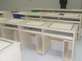 广州博奥钢木二人位电教室翻转显示器电脑桌多少钱