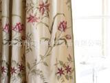 高档真丝窗帘面料沙发定制软包2014新款成品窗帘 高档别墅