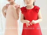韩国童装 新款韩版夏季童装爆款 女童花朵连衣裙 时尚公主裙