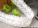 1.8CM通过水洗和环保测试穿银色丝带的半漂色全棉棉线 现货多