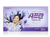 韩国原装进口日用品 韩国LG柔顺纸 黄 30抽 12盒 餐巾纸