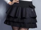 2014秋冬新款半身裙 韩版毛呢半身裙 优雅时尚修身定格短裙